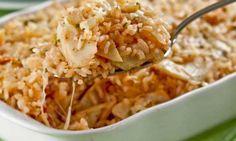 Arroz de forno com bacalhau  Receitas deliciosas de arroz para Natal e Ano Novo - Culinária - MdeMulher - Ed. Abril