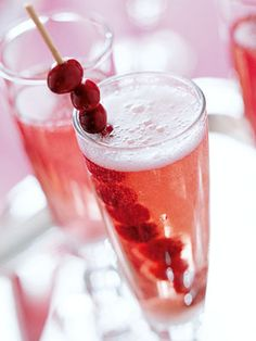 Three ingredients make this champagne drink easy to celebrate. It's holiday blush makes it ideal for Christmas and New Year's celebrations.