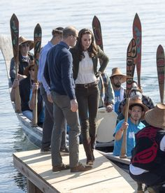 Prince William, Duke of Cambridge and Catherine, Duchess of Cambridge help to row a 25ft Haida war canoe on their visit to the island of Haida Gwaii during the Royal Tour of Canada on September 30, 2016 in Haida Gwaii, Canada. Prince William, Duke of Cambridge, Catherine, Duchess of Cambridge, Prince George and Princess Charlotte are visiting Canada as part of an eight day visit to the country taking in areas such as Bella Bella, Whitehorse and Kelowna.