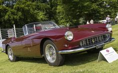 This 1959 Ferrari 250 GT Series 1 Spyder produced 250bhp, and could accelerate from 0-60mph in 7sec, with a top speed of about 140mph
