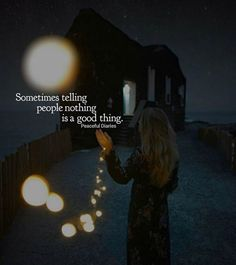 Sometimes telling people nothing is a good thing..