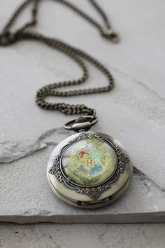 Harry Potter Pocket Watch Necklace