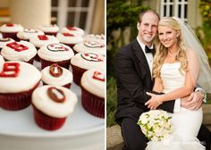 Megan & Jeff - Chateau St. Jean Wedding : Stanford Football Groom's Cupcakes