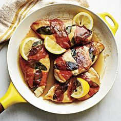 Lemony Chicken Saltimbocca | MyRecipes.com