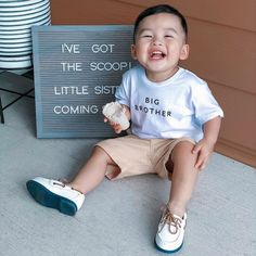 """Cheerily on Instagram: """"We are grinning from ear to ear with this future big brother announcement😍 How did your little ones react when they found out they were…"""""""