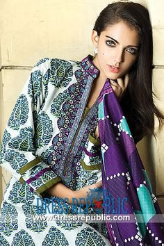 Al Karam Mid Summer Lawn Suits in United Kingdom  Pakistani Designer Outfits in Lawn and Cotton 2014 by Al Karam and Other Brands/Designers. Clothing and Accessories Boutiques in UK can Avail Deep Discounts on Buying Complete Sets. by www.dressrepublic.com