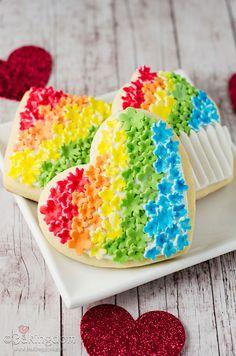 Rainbow Flower Anniversary Cookies by ©Bakingdom