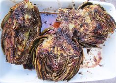 Balsamic Glazed Grilled Artichoke | From the Little Yellow Kitchen