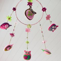 owl hanging cot mobile