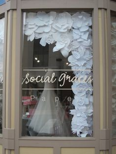 paper flower storefront