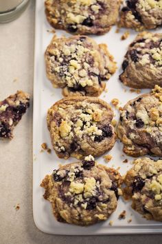 Blueberry Muffin Cookies - A Beautiful Mess