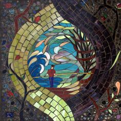 One of around 50 mosaic stones: designed by Dar as part of a Labyrinth commission.
