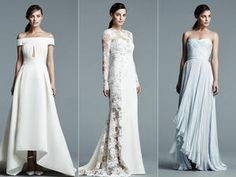 These wedding dresses from Oleg Cassini at David's Bridal's Spring 2017 line are classic and beautiful with just the right touch of twinkle.