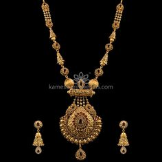 Gold Jewelry With Price Gold Mangalsutra Designs, Gold Jewellery Design, Gold Jewelry, Diamond Mangalsutra, Jewellery Earrings, Jewelry Art, Antique Necklace, Gold Necklace, Garnet Necklace