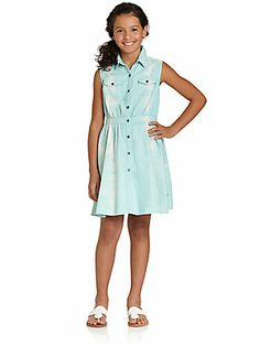 DKNY Girl's Distressed Denim Dress