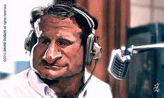 Caricatura de Robin Williams.