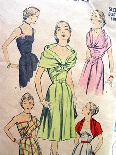 Vintage 1950's Sewing Pattern 5822 Advance GLAMOROUS by anne8865, $35.00