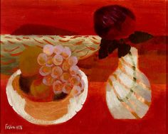 Mary Fedden | Still Life with Red Rose