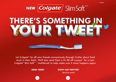 Colgate: Something In Your Tweet