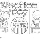 1000 images about kindergarten voting on pinterest for Free election day coloring pages