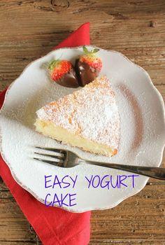 A super easy yogurt cake, delicious and moist, just add your favourite yogurt /anitalianinmykitchen.com