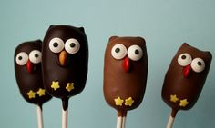 Cake Pops Schoko Eule von Valeska`s Cupcakes auf DaWanda.com