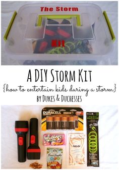 a DIY storm kit {and ideas for entertaining kids during a storm}