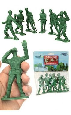 Retro US Army Men Mini in this 60 Pieces Set - Play soldiers infantry with these Army Men in Green and Tan Camo - InStock Buy now Ships Fast Godzilla Birthday Party, Army Men Toys, Green Army Men, Plastic Toy Soldiers, Military Figures, Toy Kitchen, Old Toys, Retro, Vintage Toys