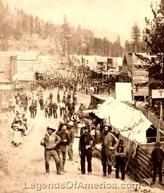 Deadwood -South Dakota  Main Street, 1870s