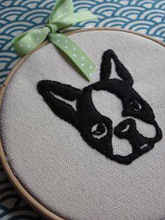 #BostonTerrier #embroidery