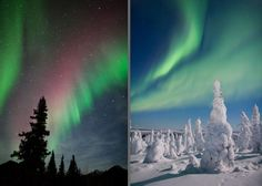 website with info on photographing the northern lights