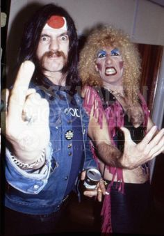 Lemmy Kilmister and Dee Snider.