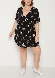 image of Plus Wildflower Wrap Dress