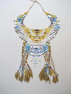 Great gift for ethnic lovers. Amazing colorful Long Necklace / Ethnic necklace – a unique product by MalgorzataDURAS via en.DaWanda.com