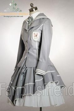 Gothic Lolita Sailor Navy Spring Schoolgirl Outfit