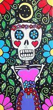 PRINT_Folk Art Mexican Folk Art Frida Day of The Dead Skull_ KERRI AMBROSINO