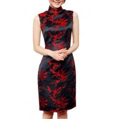 #dress #cheongsam #fashion #party dress  Plum Blossom Pattern Chinese Dress Cheongsam