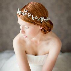 strass artesanal de cristal headpiece bridal cabelo casamento acessórios / headbands ocasião especial - BRL R$ 153,87