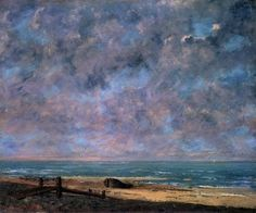 Posterazzi The Sea Gustave Courbet French) Musee des Beaux-Arts Caen France Canvas Art - Gustave Courbet x Matisse, Gustave Courbet, French Paintings, Ship Art, Artist Art, Impressionist, Artwork, Fine Art Prints, Art Gallery