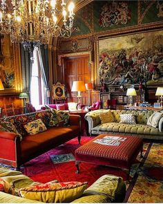 4 Unlikely Sources of Home Decor Inspiration That Will Surprise You - Timeless Design Eastnor Castle Victorian Interiors, Victorian Decor, Classic Interior, Home Interior Design, Interior Design Victorian, English Interior, Antique Interior, Home Decor Styles, Cheap Home Decor