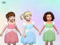 This is a set with a dress and tiara for your little sims, i.e. toddlers. Found in TSR Category 'Sims 4 Sets'