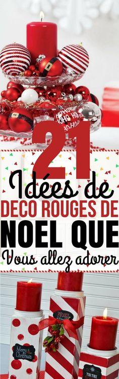 Le rouge a toujours été l'une des couleurs associées à Noël. Tout d'abord parce que c'est la couleur des vêtements du Père Noël et deuxièmement parce que c'est une couleur très vive qui ajoute du confort à n'importe quel espace. Vous pouvez non seulement décorer le sapin de Noël avec du rouge, mais aussi vos murs, votre cheminée, votre table, votre vaisselle… Si vous avez déjà quelques décos rouges à la maison, c'est encore plus simple ! #décoration #noël #idéesdéco #maison…