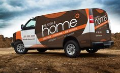 f588a947f7 Hearth  amp  Home HVAC contractor truck wrap and fleet branding  integration. - NJ Advertising