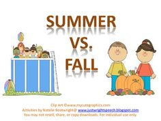 Comparing Summer & Fall with a simple FREEBIE!