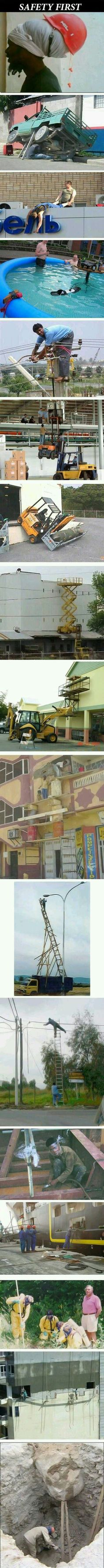 Funny pictures about Safety First! Oh, and cool pics about Safety First! Also, Safety First! Best Funny Pictures, Funny Images, Funny Photos, Funny Fails, Funny Jokes, Hilarious, Picture Fails, Safety First, Twisted Humor