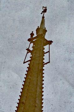 Repairs to Spire 1909