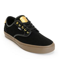 <b>Item Available For Pre-Sale, Will Ship On 11/14/2014.</b><br><br> Get a rad new look with a black suede upper accented by gold detailing with a super lightweight Ultracush Lite footbed for impact resistance.