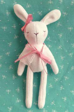 Handmade rabbit doll.