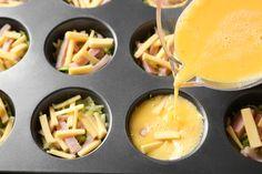 Äggmuffins med ost och skinka.