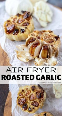 Roasted Garlic In Air Fryer is quick and easy. Air fryer roasted garlic is the best way to make unbelievably flavorful dishes. #roastedgarlic #airfryerrecipes #garlicrecipes #airfryer New Air Fryer Recipes, Air Fry Recipes, Side Dishes Easy, Side Dish Recipes, Tasty, Yummy Food, Delicious Recipes, Healthy Recipes, Air Fried Food